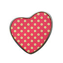 Red Polka Dot Heart Brooch