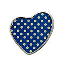 Blue Polka Dot Heart Brooch