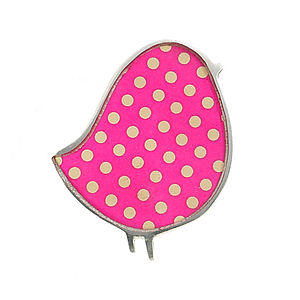 Polka Dot Bird Brooch