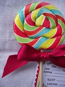 Lollipop Party Invites