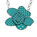 Polka Dot Flower Chain Necklace