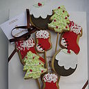 Homemade Shortbread Christmas Biscuit Bouquet