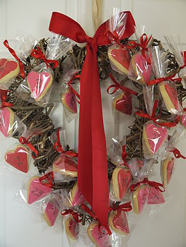 Advent Heart Shaped Biscuit Wreath