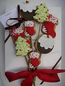 Christmas Biscuit Bouquet - biscuits