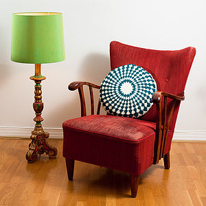 Round Cushion And Crocheted Cover - cushions