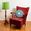 Round Cushion And Crocheted Cover