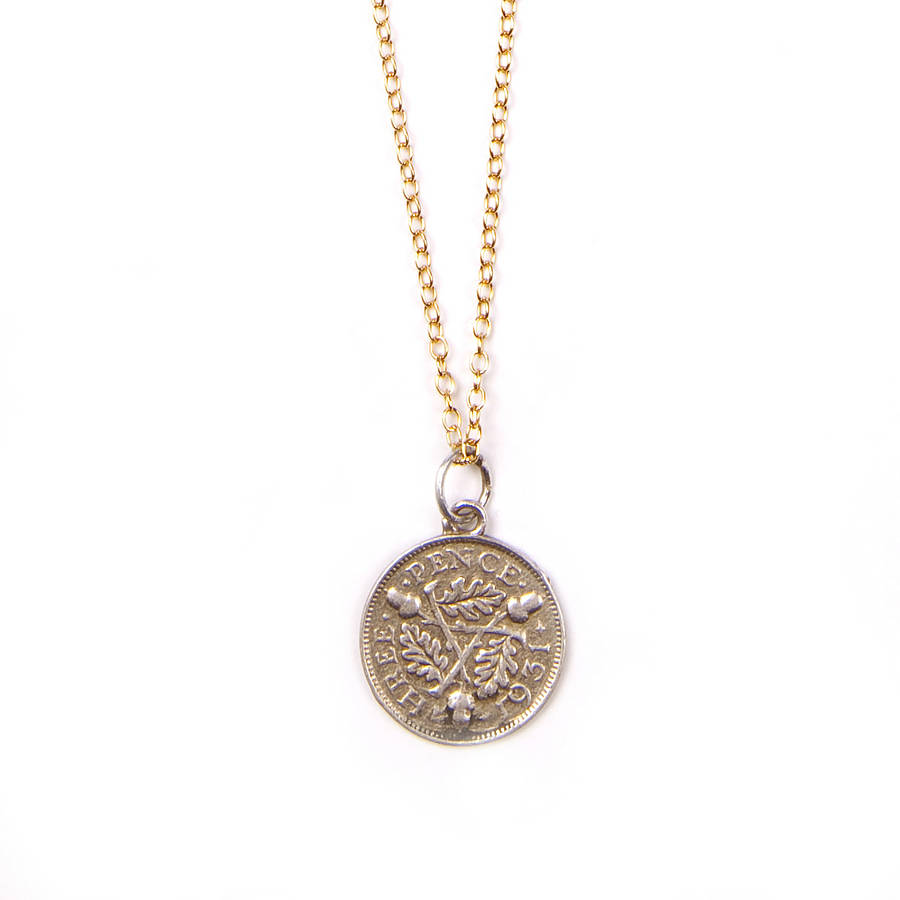 silver coin necklace by harry rocks