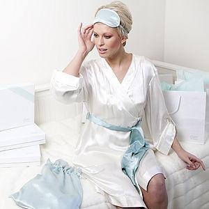 Bridal Eclat White Silk Robe