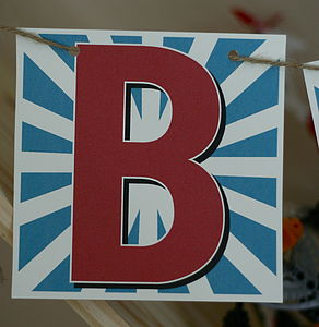 Personalised Alphabet Card Bunting - children's parties