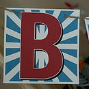 Personalised Alphabet Card Bunting