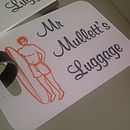 Personalised Mr And Mrs Luggage Tags