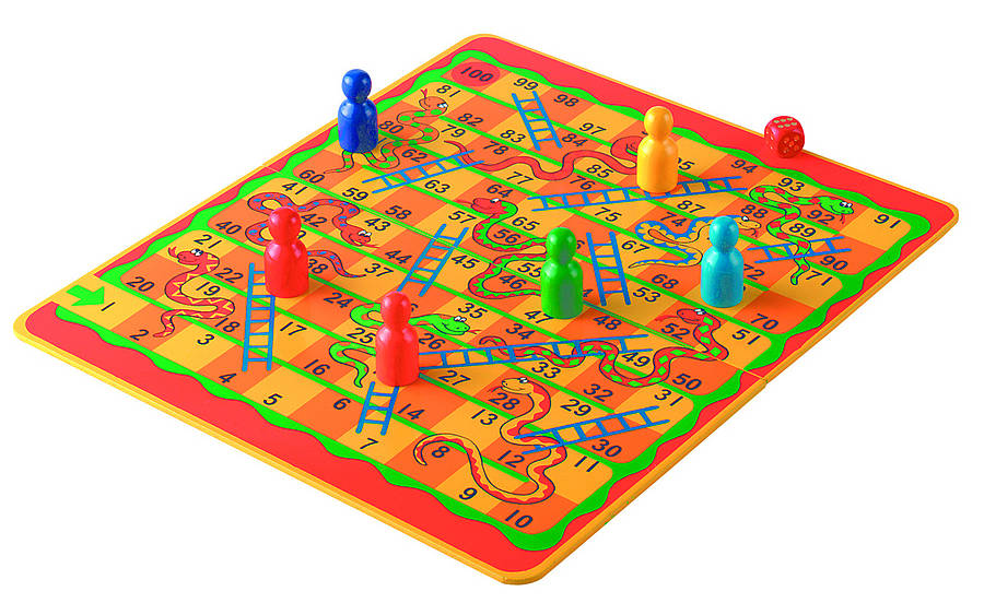 Snakes & Ladders Or Jungle Draughts