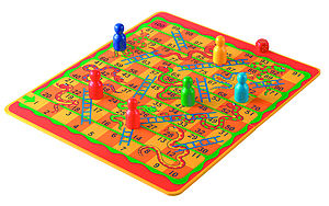 Snakes & Ladders Or Jungle Draughts - board games & puzzles