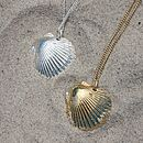Saba shell necklace gold and silver