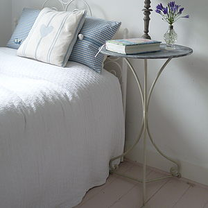 Zinc Top Table - bedroom
