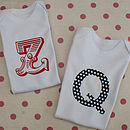 Personalised Letter Baby Body Suit & Bib Set