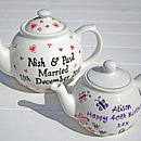 Personalised Wedding Teapot