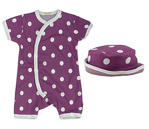 Polka Dot Baby Romper & Sun Hat - maternity essentials