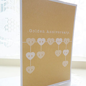 Golden Wedding Anniversary Card - anniversary cards