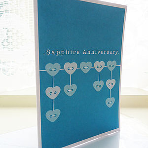 Sapphire Wedding Anniversary Card - shop by category