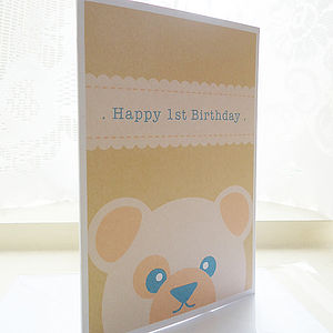Personalised Teddy Birthday Card