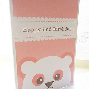 Personalised Panda Birthday Card - birthday cards