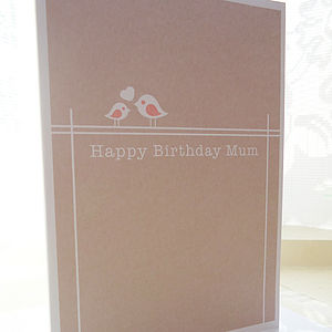 Personalised 'Happy Birthday Mum' Card