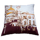 Streets Of Montmartre Purple Cushion