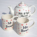 Mugs and teapot