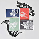 British Wildlife Card - set of 4