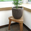 Tristool Solid Oak Chunky Three Legged Childrens Stool from Cleancut Wood 5
