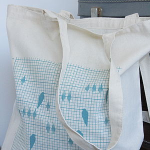 Bird Soundwave Reusable Cotton Shopper