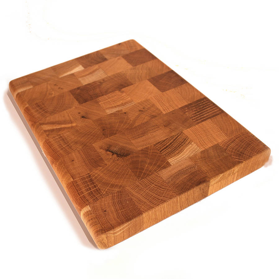 oak end grain butcher s block chopping board by cleancut