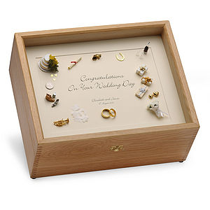 Wedding Memory Box Black On Cream - storage & organisers
