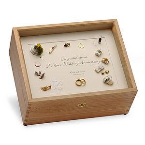 Wedding Anniversary Memory Box Black On Cream