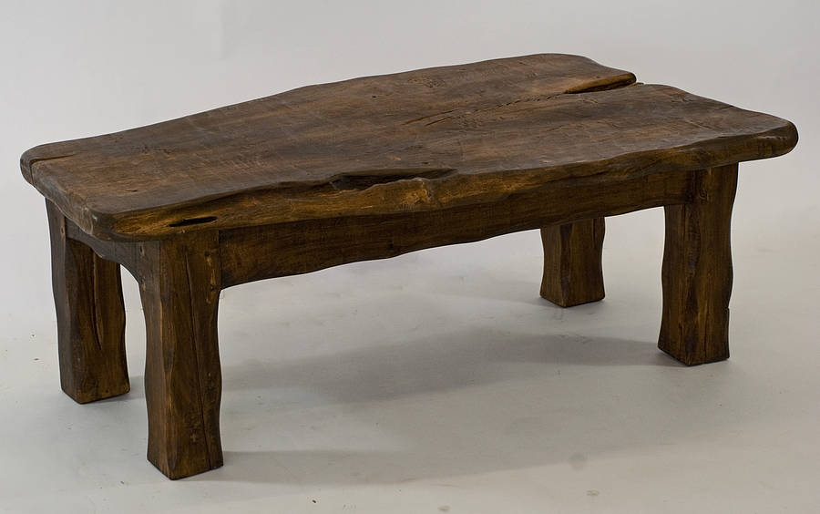 Dark Wooden Coffee Table ~ Handmade chunky dark wooden coffee table by kwetu