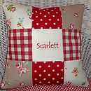 'Scarlett' Patchwork Name Cushion