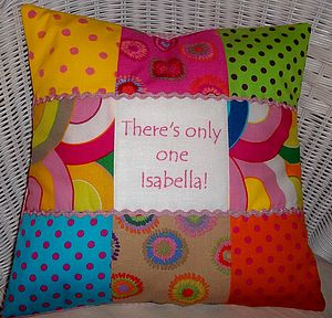 Funky Message Cushion