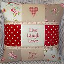 'Live, Laugh, Love' Cushion