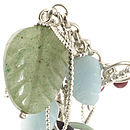 Berries And Leaf Silver Bracelet