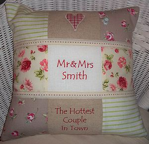 'Mr and Mrs' Cushion - patterned cushions