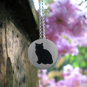 Silver Cat Pendant - necklaces & pendants