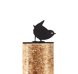 Wren Fence Post Protector - art & decorations