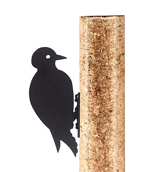 Woodpecker Fence Post Decoration