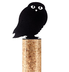 Owl Fence Post Protector - art & decorations