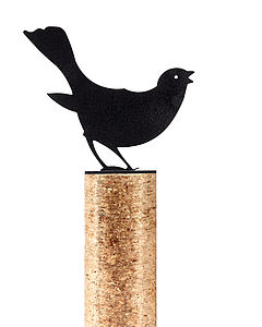 Blackbird Fence Post Protector - art & decorations