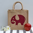 Elephant Lunch Bag in Red