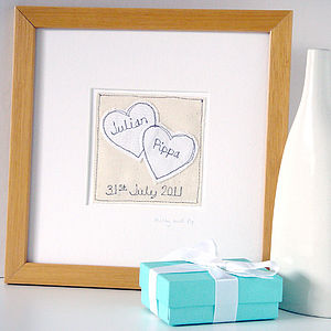 Personalised Wedding Picture, Framed