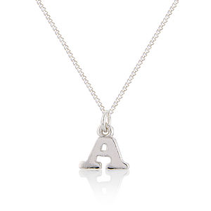 Sterling Silver Initial Pendant - necklaces