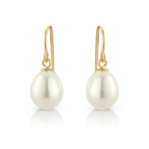 Tear Drop Pearl Earrings With Gold Fill Hooks